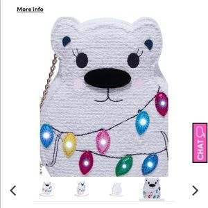 Betsey Kitsch Snow Bear Crossbody Bag NWT